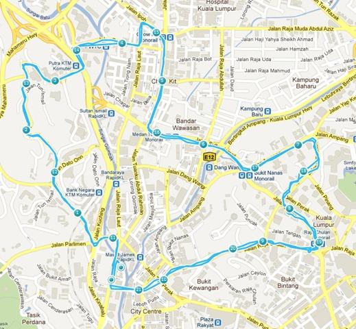 OCBC Cycle Malaysia 2011 map