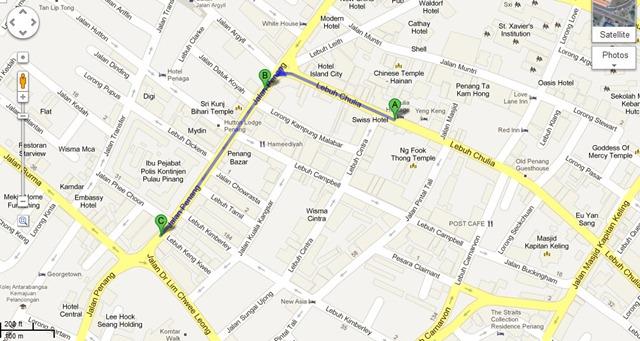 Lebuh Chulia to Joo Hooi Cafe - Google Maps - Google Chrome 2062012 83633 PM