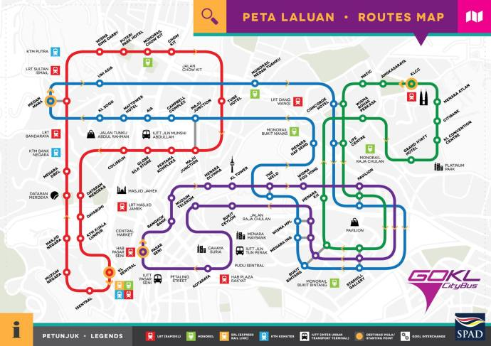 go KL 4 lines map